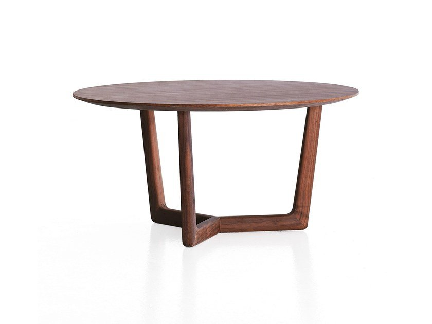 Round wooden coffee table SHAHAN - Porro