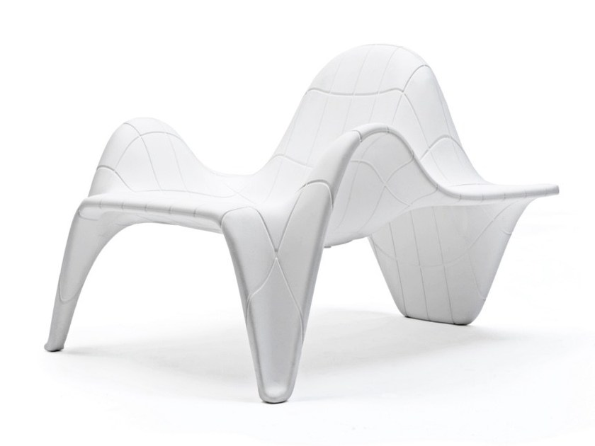 Sectional modular garden armchair with footstool F3 | Modular garden armchair by VONDOM