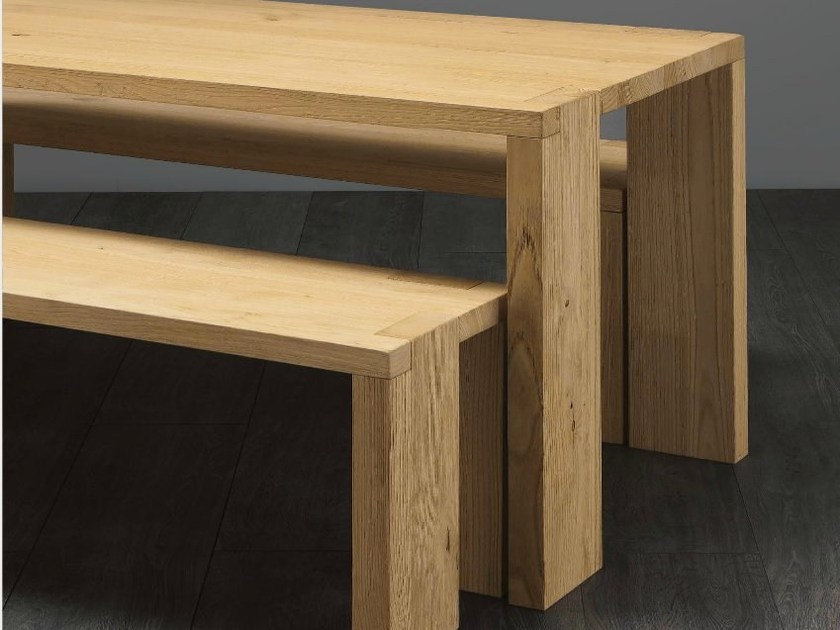 Rectangular chestnut dining table ROOTS - Aster Cucine