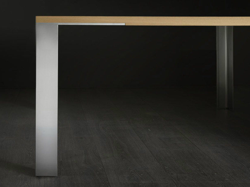Dining rectangular wooden table