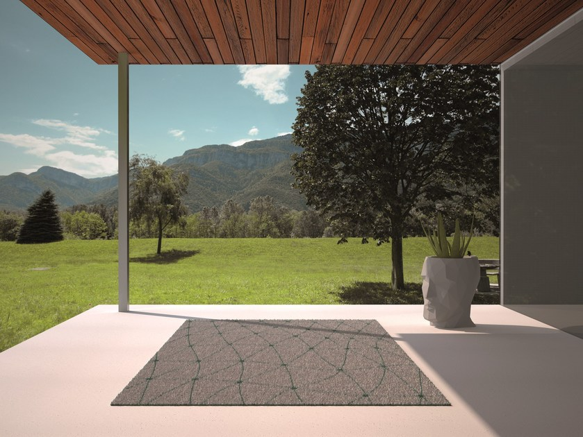 Patterned Rectangular outdoor rug KOI - VONDOM