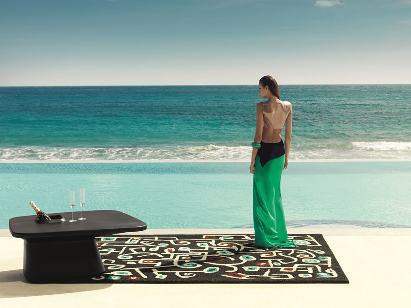 Patterned Rectangular outdoor rug LAS FLORES DE KLEE - VONDOM