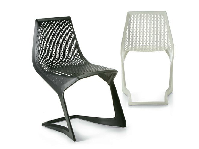 Cantilever stackable plastic chair MYTO - Plank
