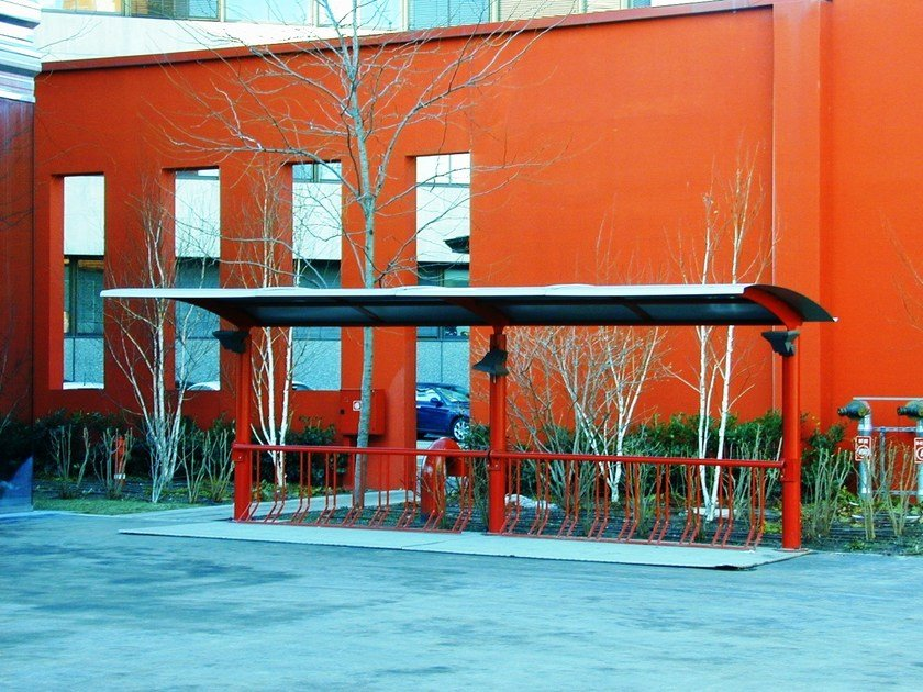 Steel porch for bicycles and motorcycles THE RED - SMEC