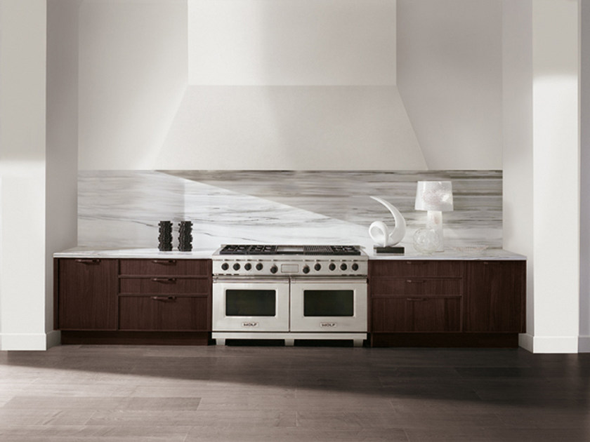 Linear wooden kitchen