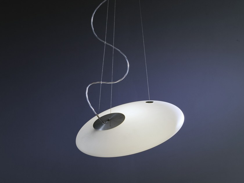 Indirect light fluorescent pendant lamp GLOU GLOU POL | Pendant lamp by Martinelli Luce