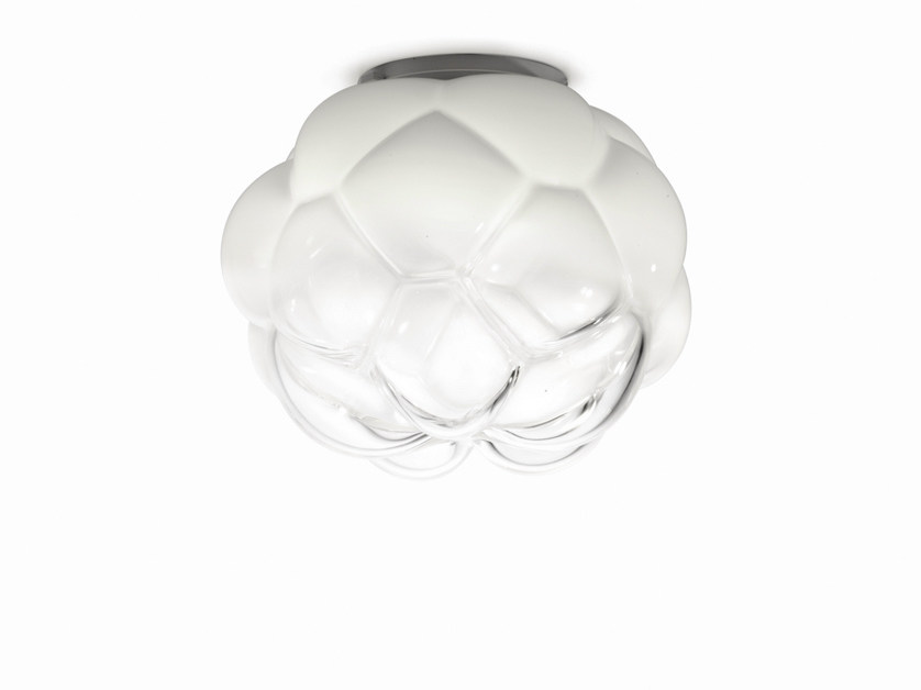 Glass ceiling light