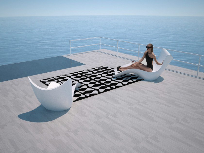 Rectangular outdoor rug with Geometric Shapes YOU & ME - VONDOM