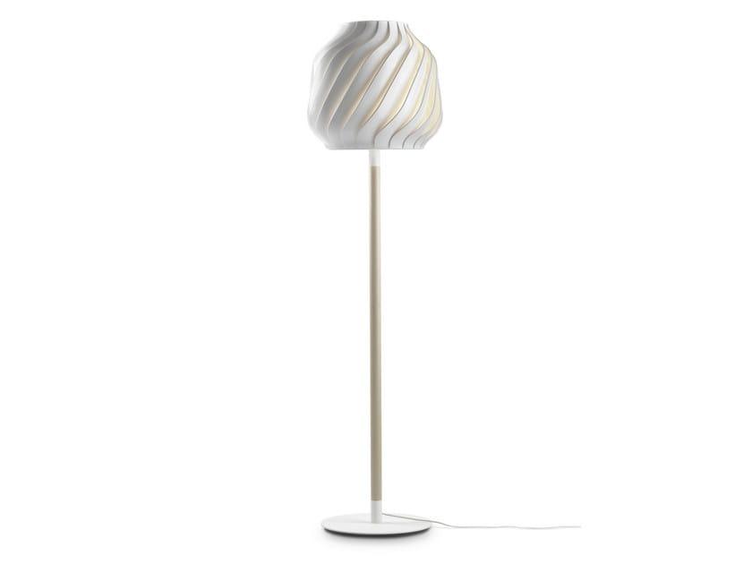 Design halogen plastic floor lamp