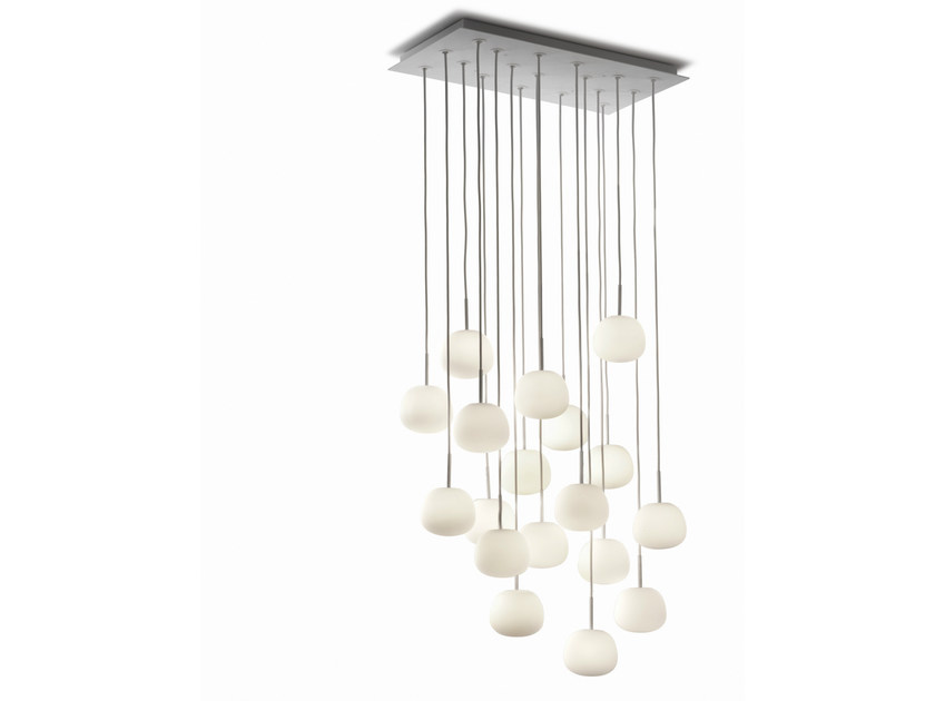Glass pendant lamp LUMI MOCHI | Pendant lamp by Fabbian