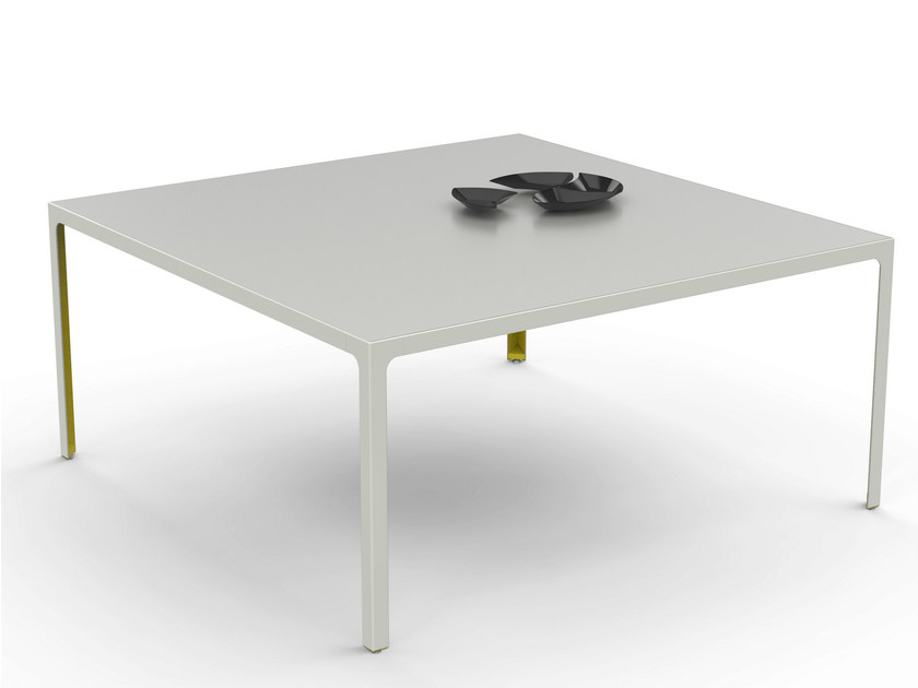 Square metal table