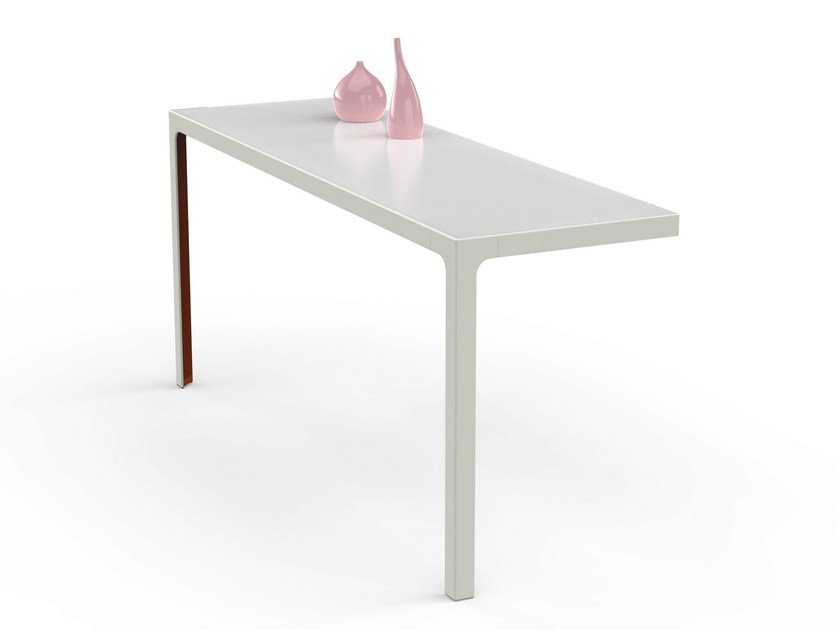 Rectangular metal console table