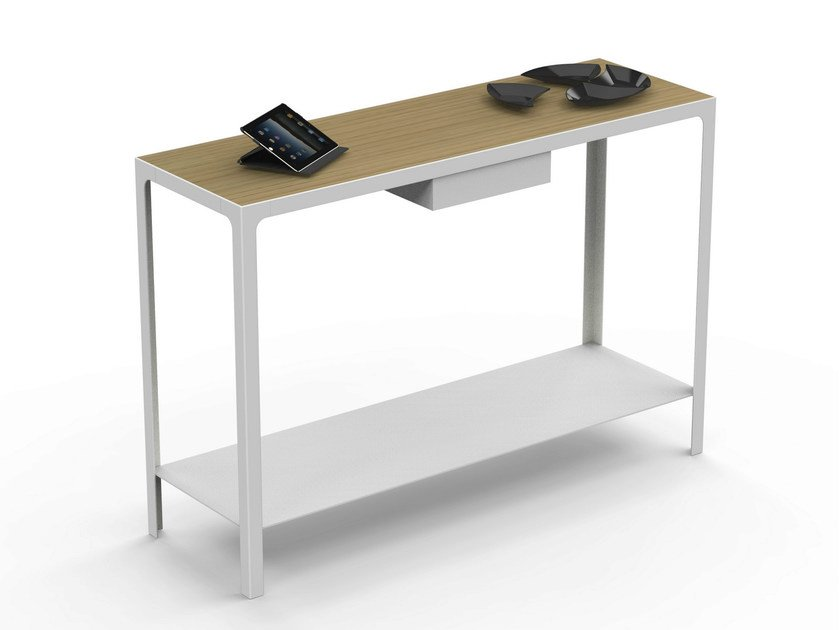 Metal secretary desk