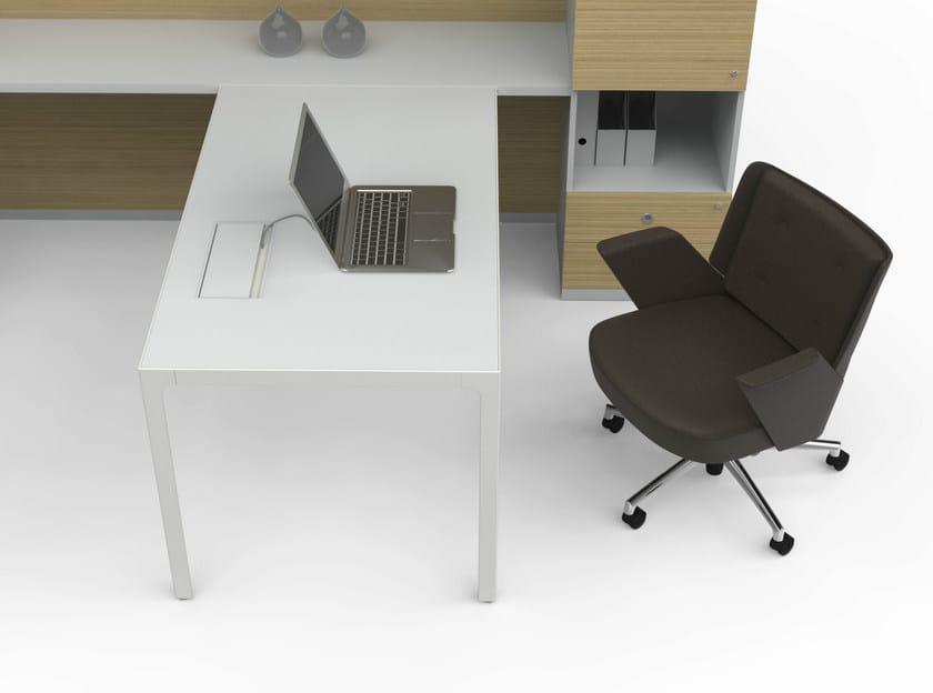 Scrivania componibile direzionale more 45 scrivania for Scrivania componibile