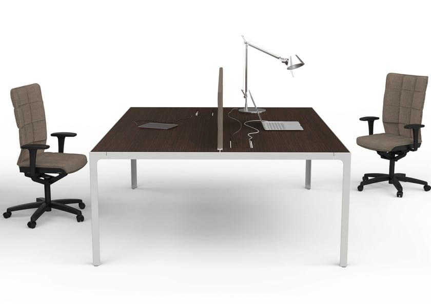 Scrivania componibile operativa more 45 scrivania for Scrivania componibile