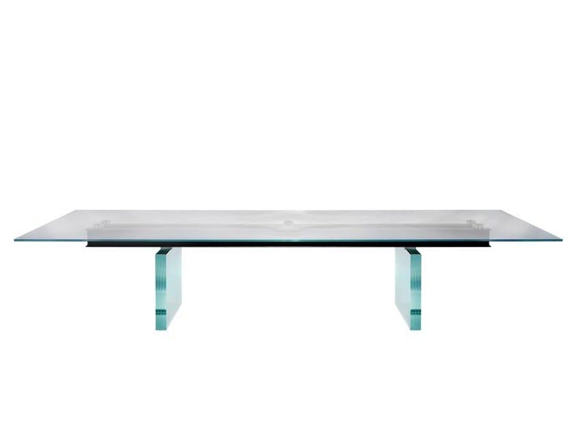 table manger rectangulaire en verre less is more by. Black Bedroom Furniture Sets. Home Design Ideas