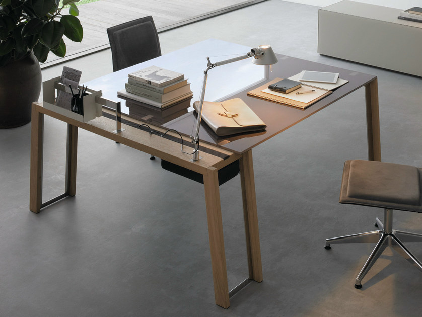 Crystal office desk WGS PLUS by Gallotti&Radice