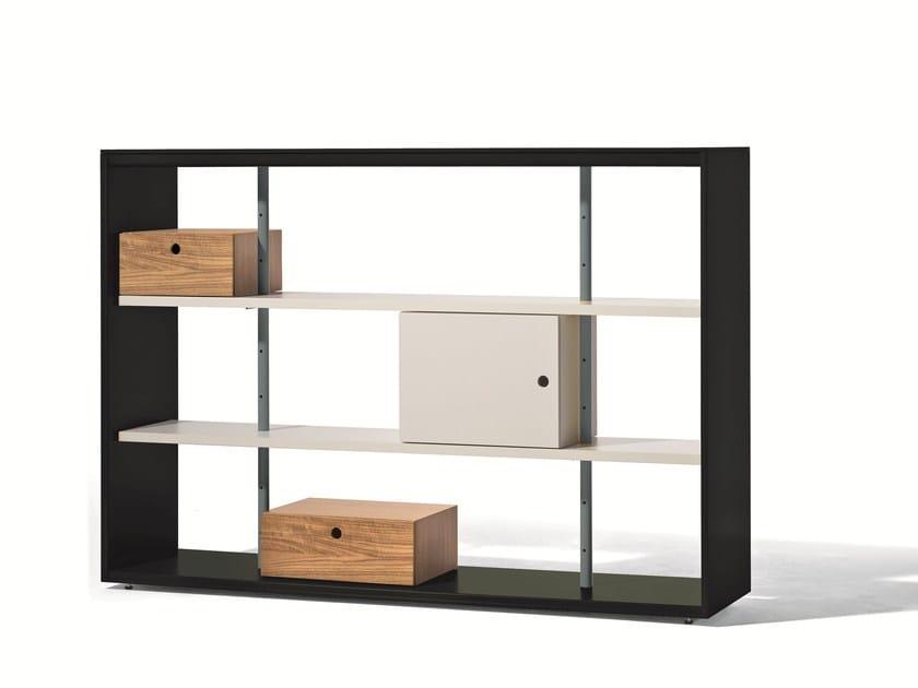 Open double-sided bookcase FRAME - Richard Lampert
