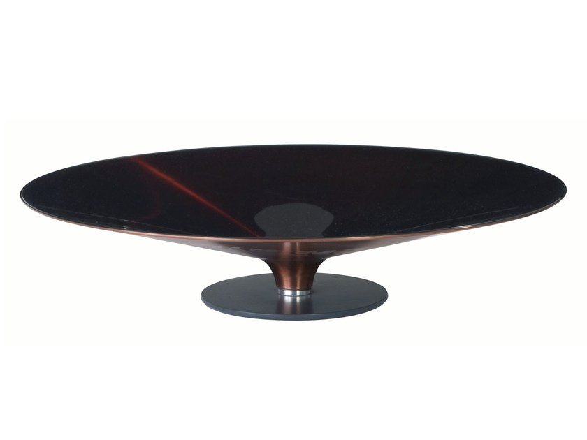 Low round coffee table ovni les contemporains collection for Table basse ovni roche bobois