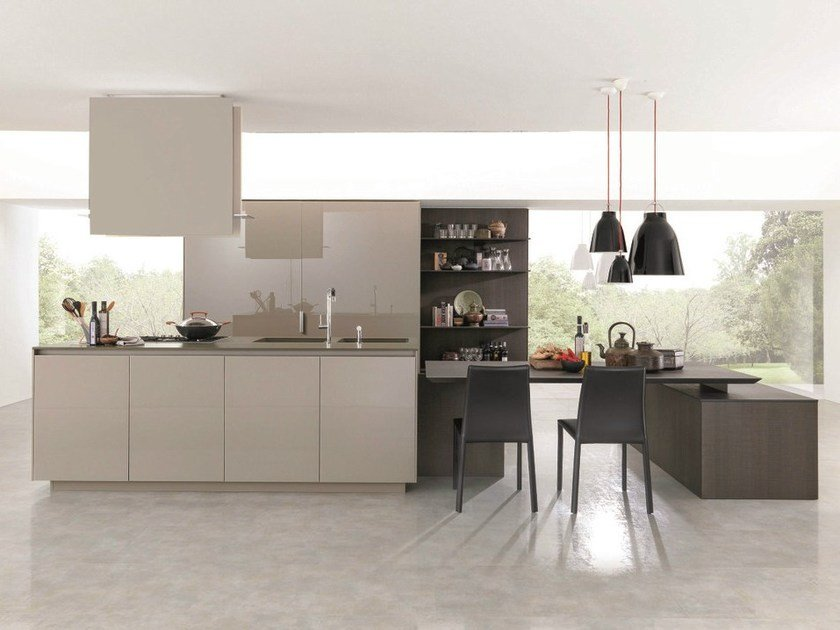 Wooden fitted kitchen KUBIC 4 - Euromobil