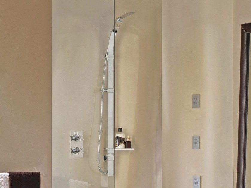 Shower wallbar with hand shower with hose FLAT ONE - Bossini