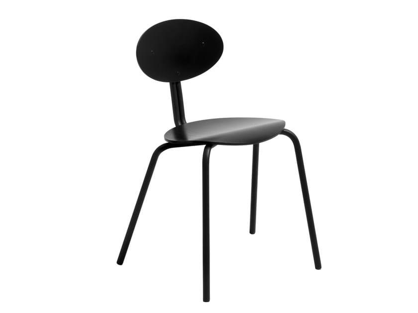Stackable multi-layer wood chair LUKKI 5 - Artek
