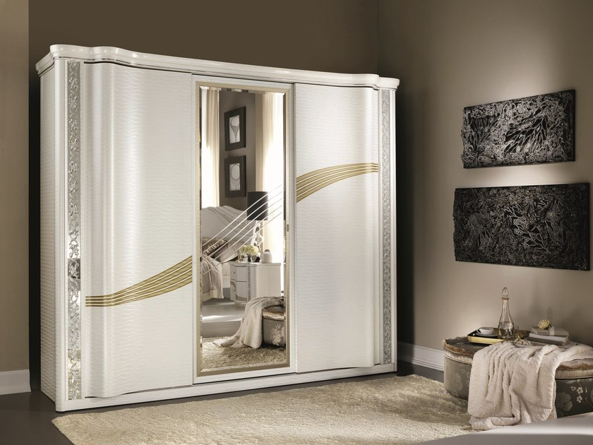Classic style wardrobe with sliding doors MIRÒ | Wardrobe - Arredoclassic