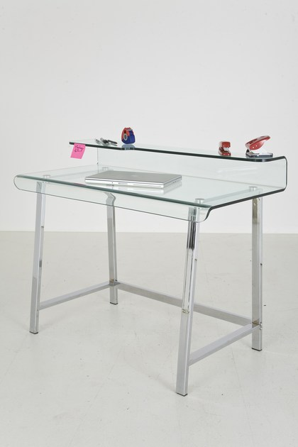 GLASS WRITING DESK VISIBLE CLEAR BY KARE DESIGN