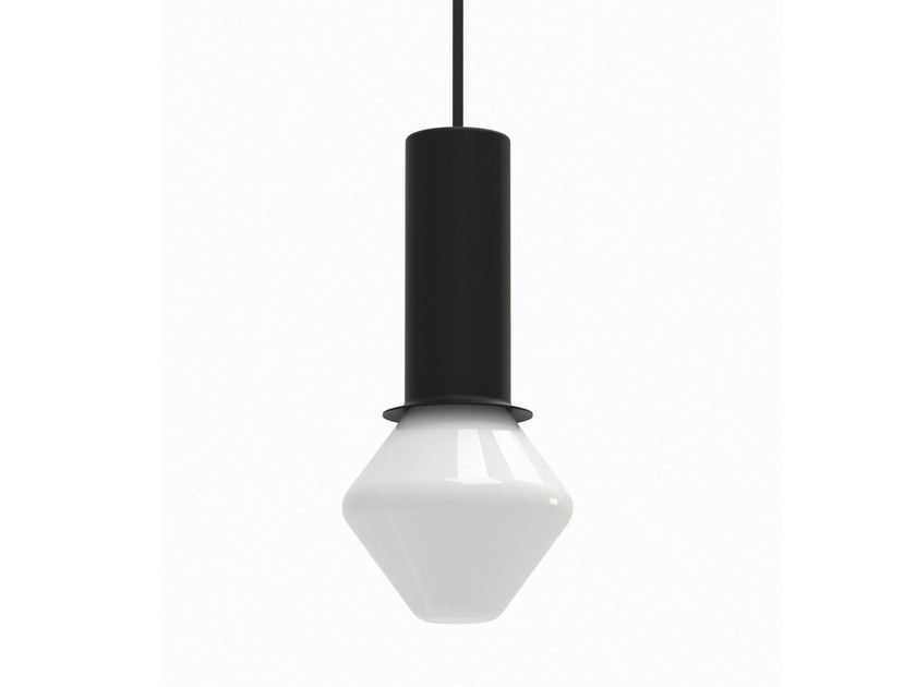 LED metal pendant lamp TW003 + GLASS SHADE | Pendant lamp by Artek