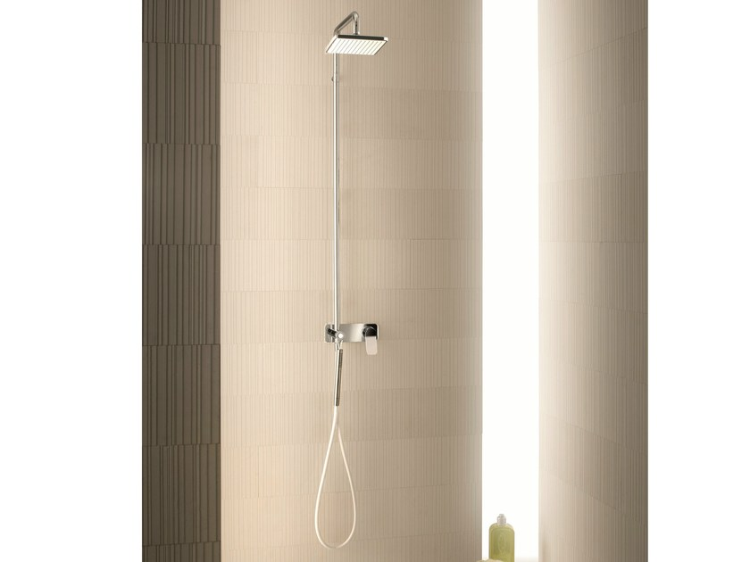 Shower panel with hand shower with overhead shower LEVANTE | Shower panel - Fantini Rubinetti