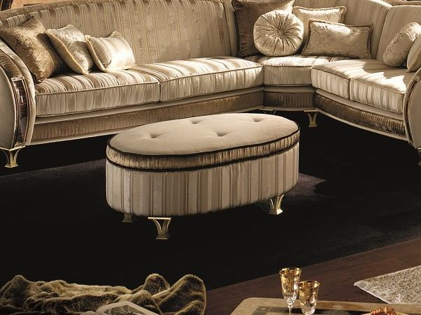 Deco upholstered pouf ROSSINI | Pouf - Arredoclassic