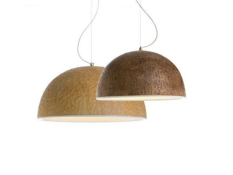 Handmade wooden pendant lamp TICK - ILIDE italian light design