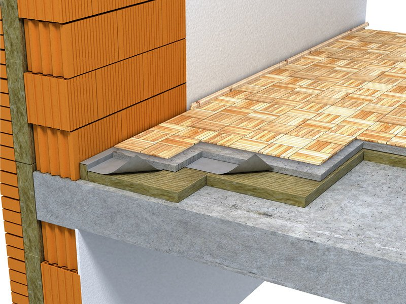 Thermal insulation panel / Sound insulation and sound absorbing panel in mineral fibre Steprock LD by ROCKWOOL ITALIA