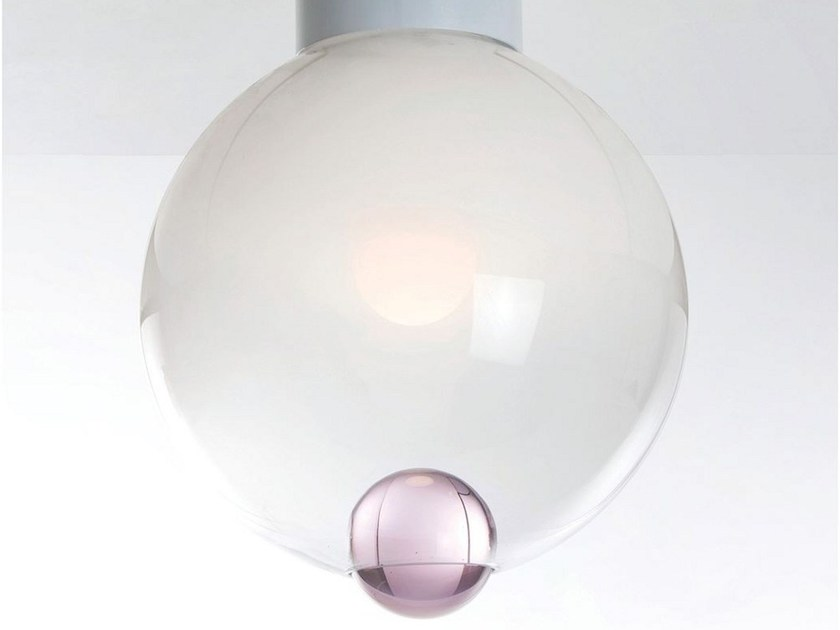 Blown glass ceiling lamp BUBBLE | Ceiling lamp - ILIDE italian light design