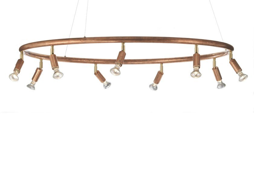 Adjustable copper pendant lamp STAR RUND | Copper pendant lamp - Örsjö Belysning