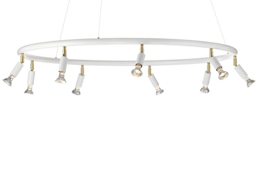 Adjustable enamelled metal pendant lamp STAR RUND | Enamelled metal pendant lamp - Örsjö Belysning