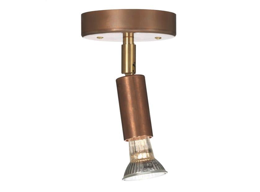 Adjustable ceiling copper spotlight STAR 1 | Copper spotlight - Örsjö Belysning