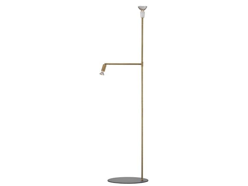 Brass floor lamp GALAX - Örsjö Belysning