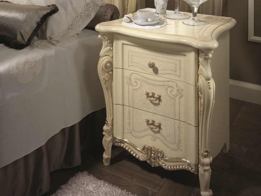 Classic style bedside table with drawers TIZIANO | Bedside table by Arredoclassic