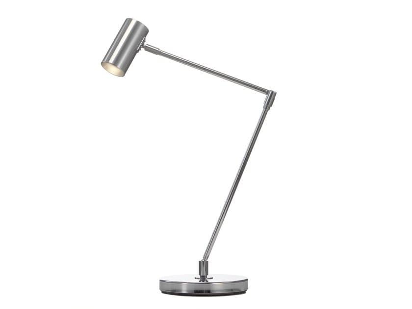 Adjustable chrome plated desk lamp MINIPOINT | Desk lamp - Örsjö Belysning
