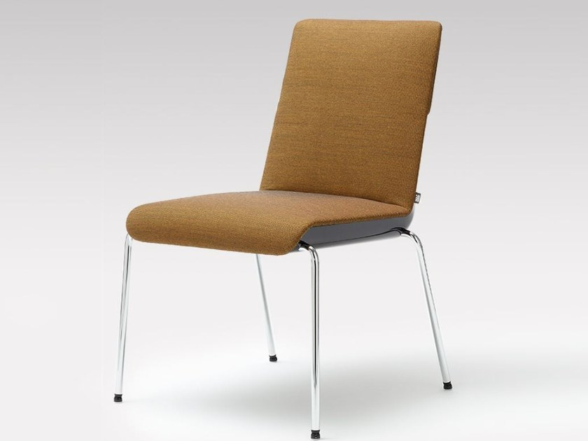 gepolsterter stuhl aus stoff kollektion sinus by rolf benz design kai stania. Black Bedroom Furniture Sets. Home Design Ideas