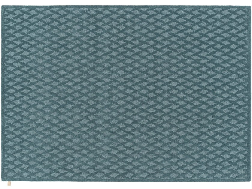 Rectangular wool rug CLASSIC GRID - Kasthall