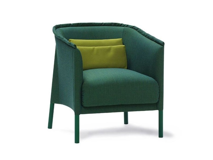 Fabric easy chair with armrests TALO | Easy chair by SANCAL