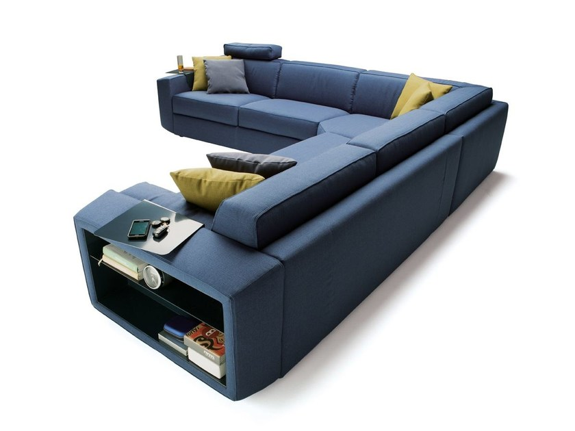 Corner sofa bed with removable cover MELVIN | Corner sofa - Milano Bedding