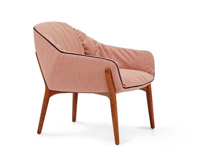 Fabric armchair with armrests NIDO by SANCAL