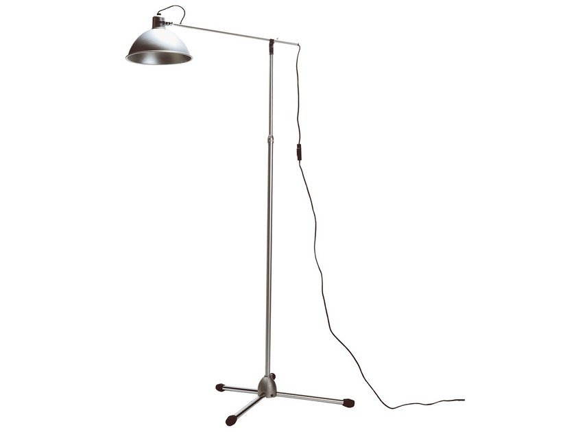 Height-adjustable adjustable aluminium floor lamp SNODO TERRA - KRIPTONITE