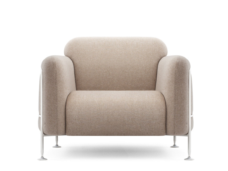 Upholstered armchair with armrests MEGA | Armchair - Massproductions