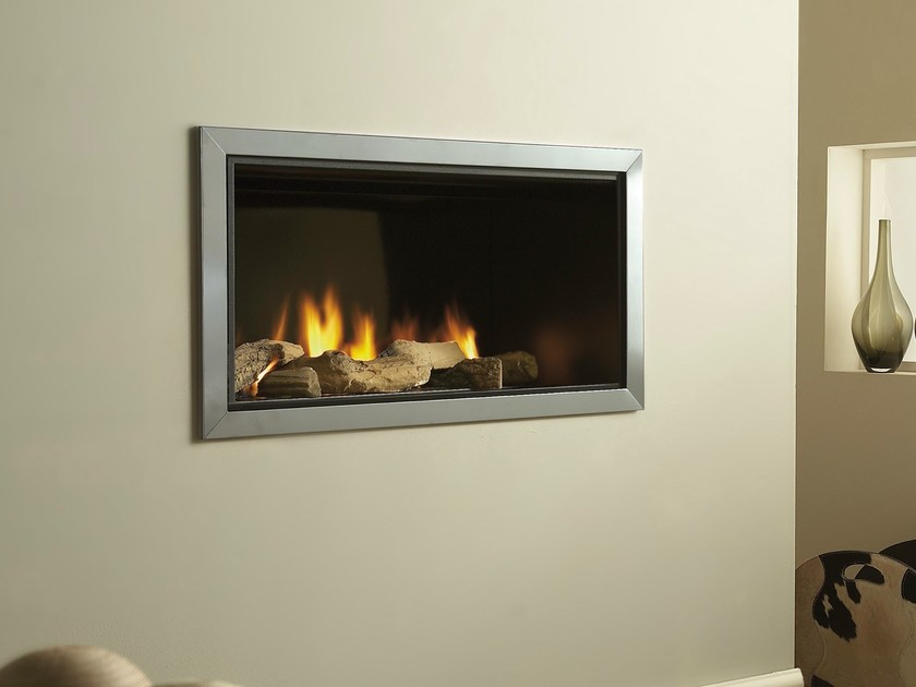 Gas stainless steel fireplace VERTEX by BRITISH FIRES