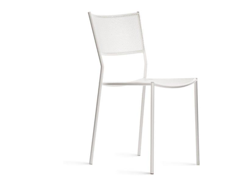 Powder coated steel garden chair JIG MESH | Garden chair - Massproductions