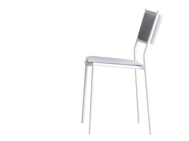 Stackable powder coated steel garden chair JIG | Garden chair - Massproductions